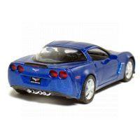 Kinsmart Auto Chevrolet Corvette C6 kov 13cm - Modrá 2