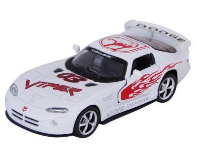 Kinsmart Auto Dodge Viper GTS-R kov 13cm - Bílá