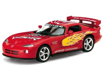 Kinsmart Auto Dodge Viper GTS-R kov 13cm - Červená