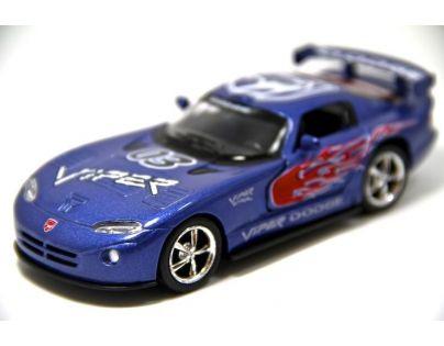 Kinsmart Auto Dodge Viper GTS-R kov 13cm - Modrá