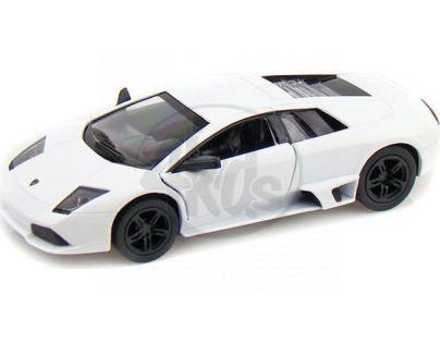 Kinsmart Auto Lamborghini Murciélago kov 12,5cm na zpětné natažení - Bílá