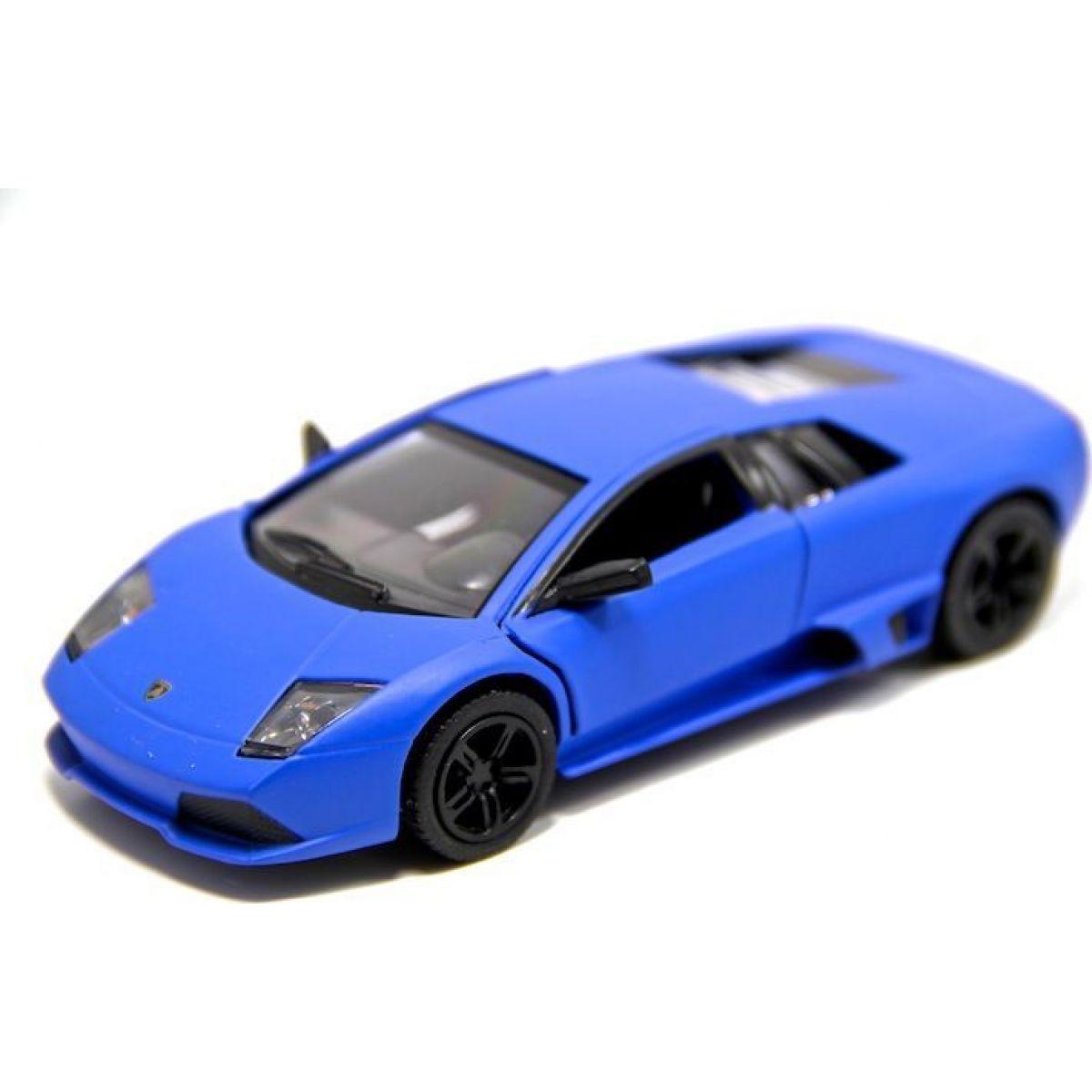 Kinsmart Auto Lamborghini Murciélago kov 12,5cm na zpětné natažení - Modrá