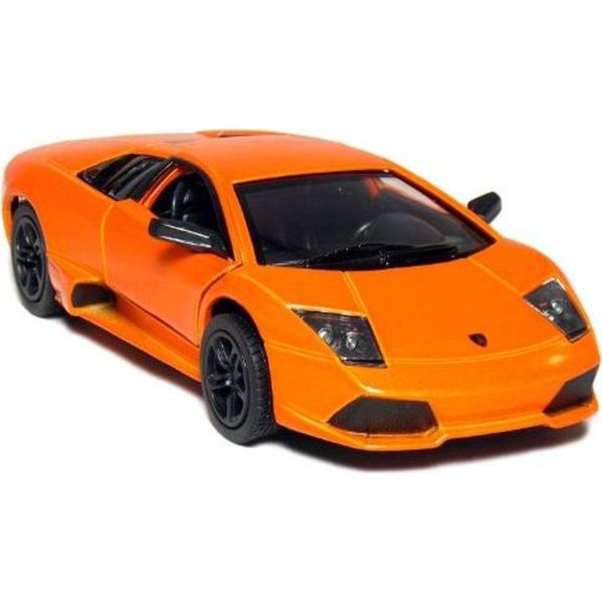 Kinsmart Auto Lamborghini Murciélago kov 12,5cm na zpětné natažení - Oranžová