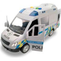 Made Auto policejní dodávka na setrvačník se zvukem