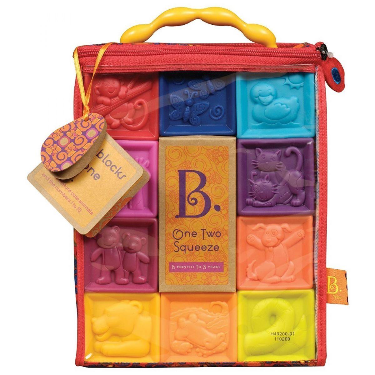 B.Toys Kostky One Two Squeeze