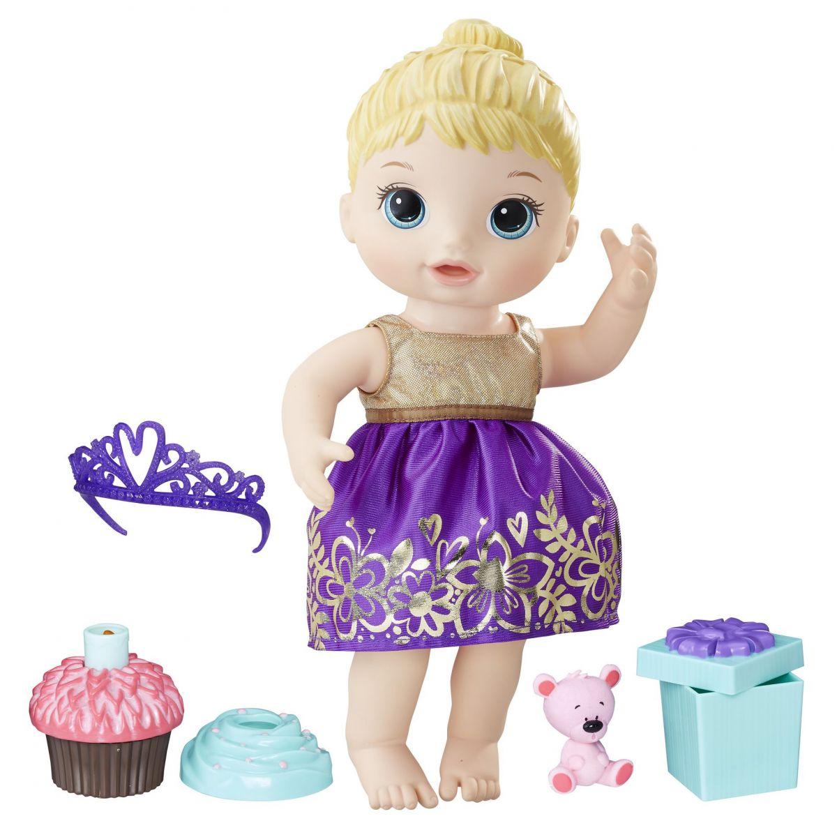 Hasbro Baby Alive Narozeninová blonďatá panenka