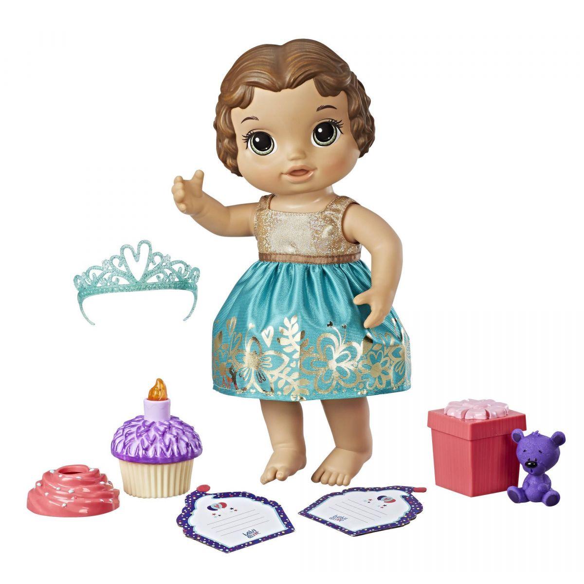 Baby Alive Narozeninová tmavovlasá panenka