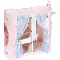 Baby Annabell 2v1 Šatní skříň a přebalovací stůl modré závěsy