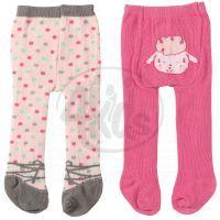 Baby Annabell Punčocháče 2ks - Tmavě růžové a světle růžové