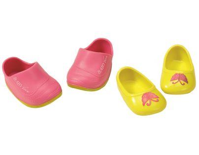 Baby Born Dva páry bot - Boty s nápisem a boty s motýlkem