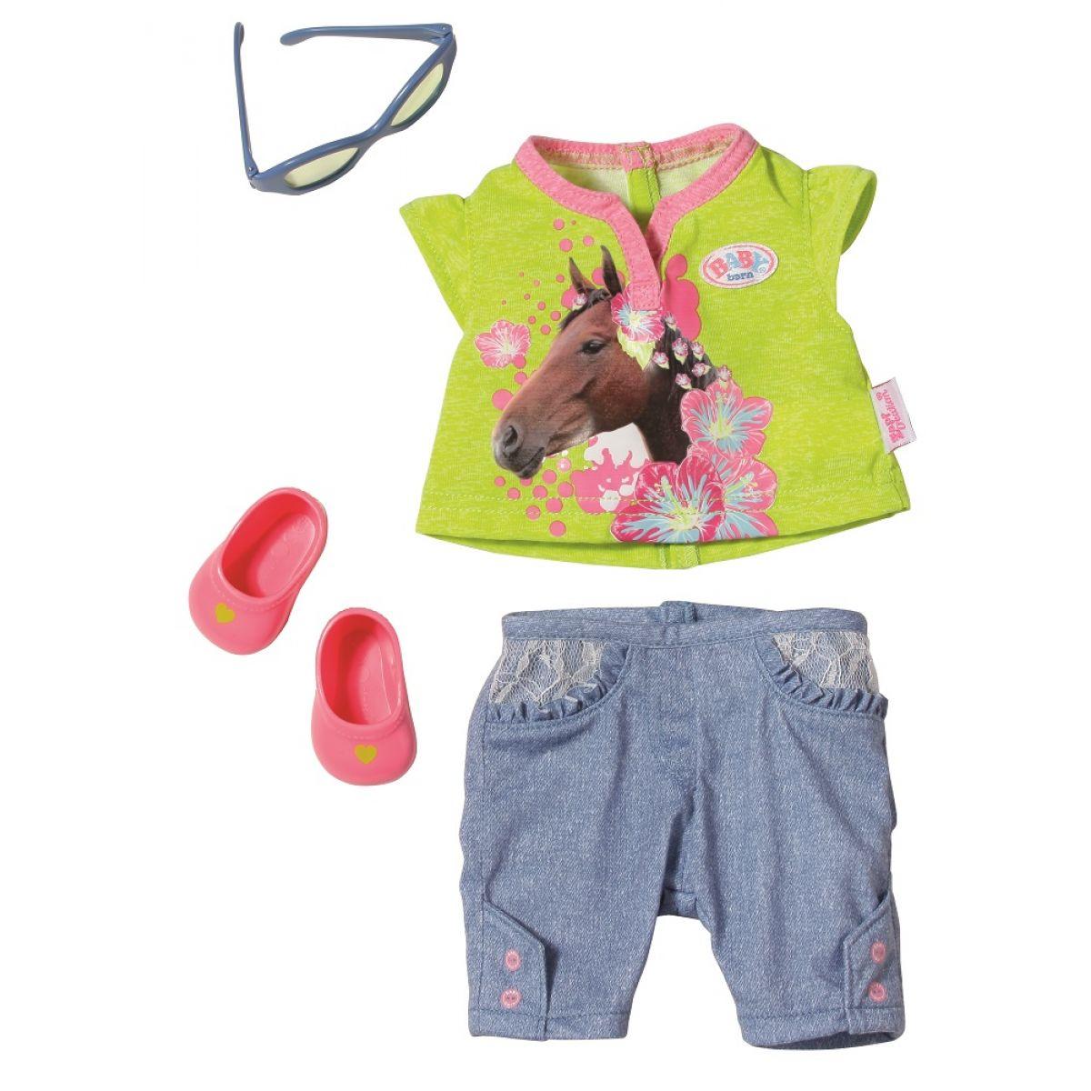Baby Born Džínová kolekce - Zelené tričko