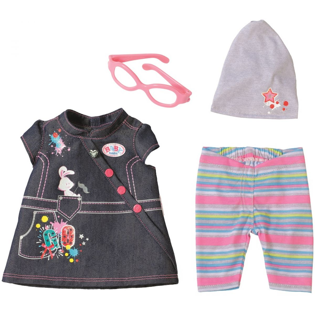 Zapf Creation Baby Born Džínová souprava - Džínové šaty