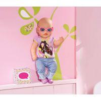 Baby Born Džínové oblečení - Fialové tričko 3