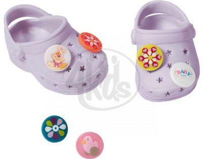 Baby Born Gumové sandály - Fialová světlá