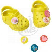 Baby Born Gumové sandály - Žlutozelená