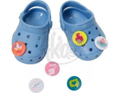 Baby Born Gumové sandály - Modrá