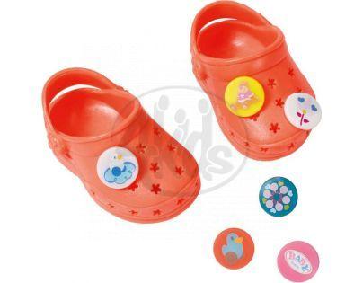 Baby Born Gumové sandály - Oranžová