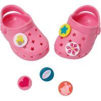 Baby Born Gumové sandály - Růžová světlá