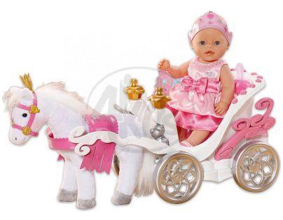 BABY born 818015 - BABY born® Interaktivní kůň s kočárem