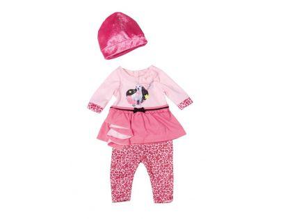 Baby Born Klasické oblečení do města - Čepička růžová tmavě