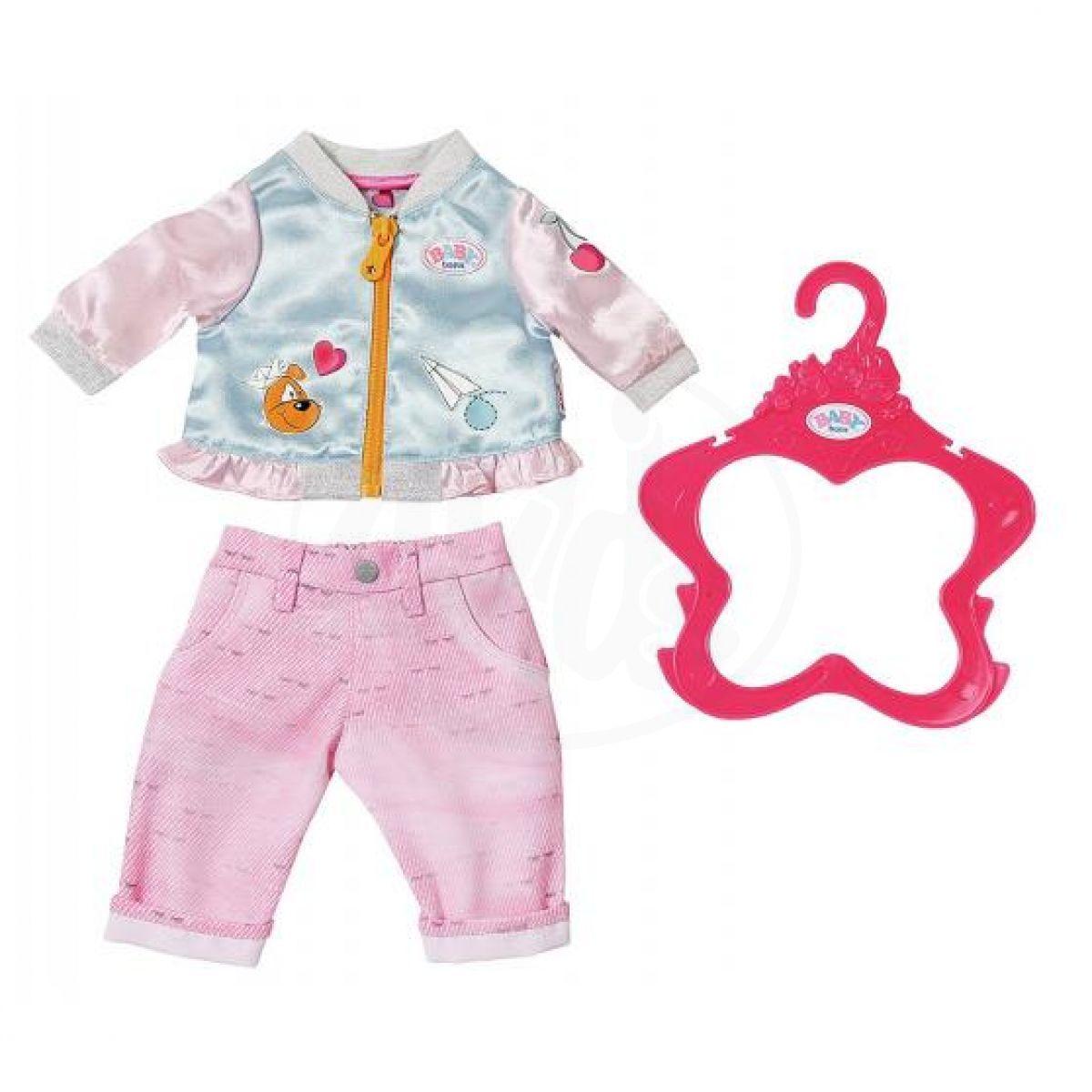 Baby Born Oblečení Bunda a kalhoty růžové kalhoty