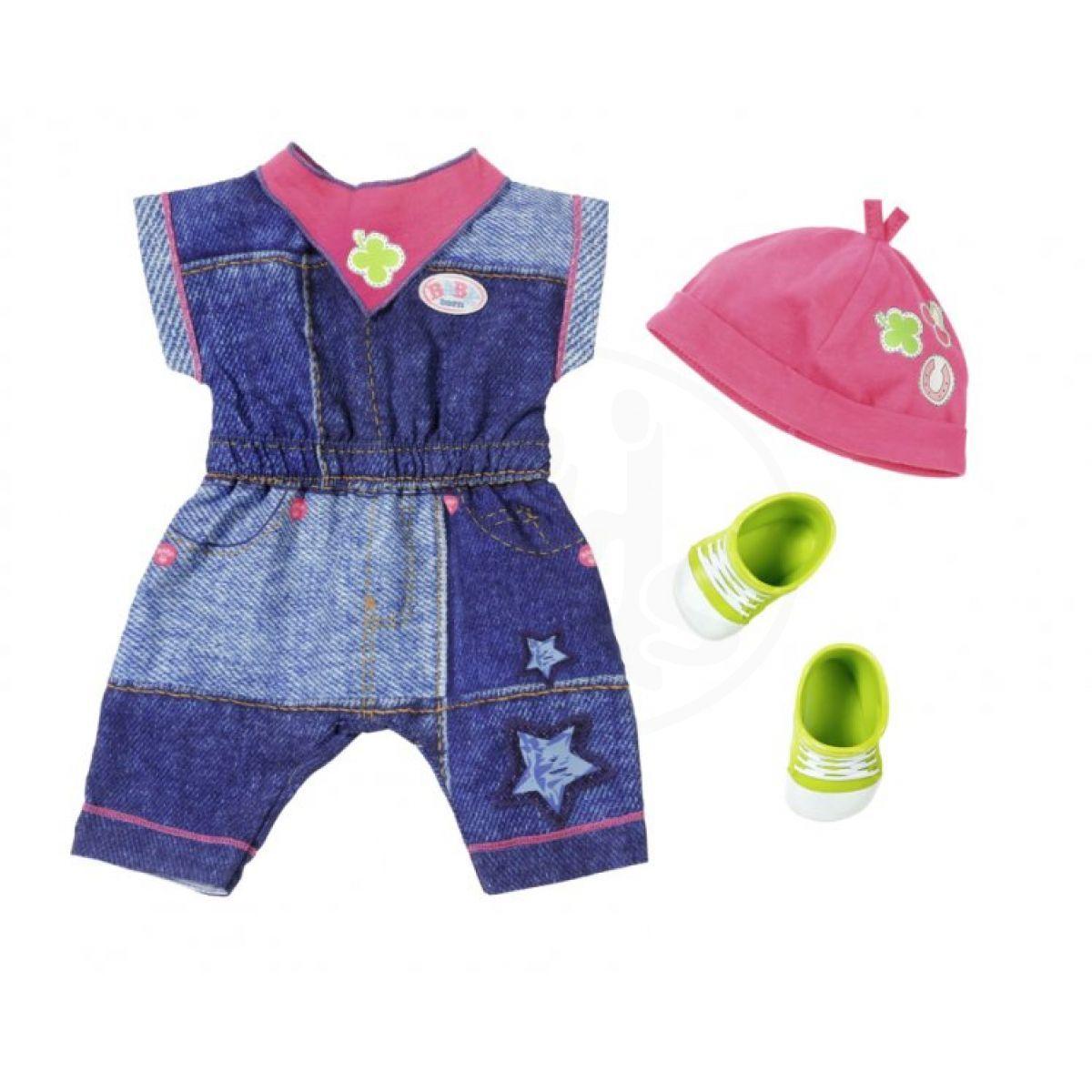 Baby Born Oblečení Džínová souprava Overal Šaty