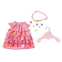 Baby Born Oblečení Letní šatičky s barevnou čelenkou