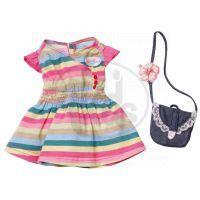 Baby Born Oblečení 3 druhy Zapf - Barevné pruhované 2