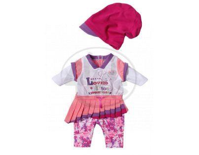Baby Born Oblečení s čepičkou - Růžová sukně