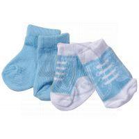 Baby Born Ponožky 2 páry - Modré, tkaničky