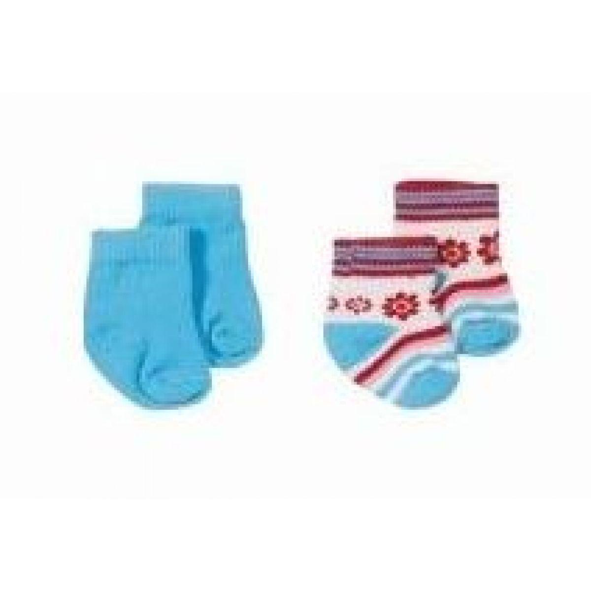 BABY born 816394 - Ponožky 2 páry - červené kytičky