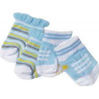 Baby Born Ponožky 2 páry Modré s proužky a modré s tkaničkami