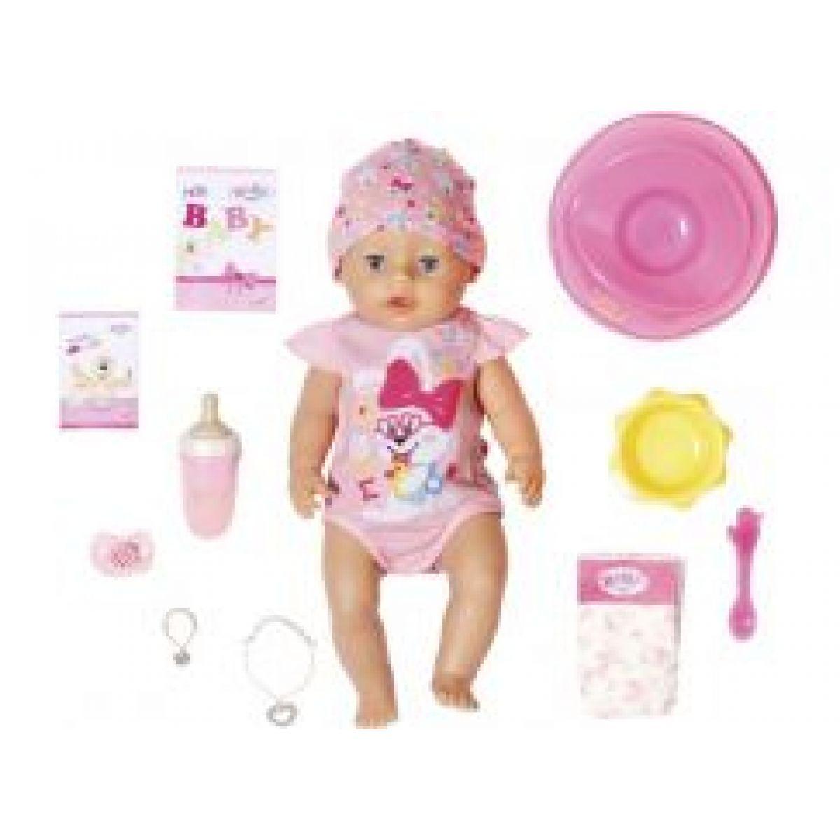 Baby Born s čarovným cumlíkom dievčatko 43 cm  - Poškodený obal