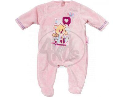 Baby Born Sametový overal a šatičky - Růžové dupačky