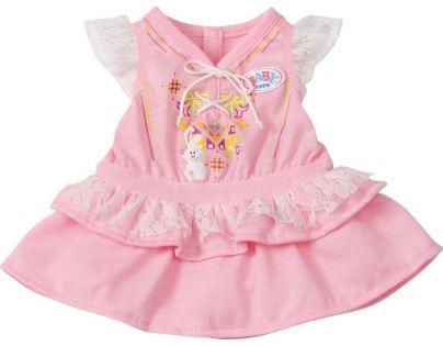 Baby Born Sametový overal a šatičky - Růžové šatičky