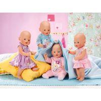 Baby Born Sametový overal a šatičky - Růžové šatičky 3