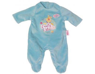 Baby Born Sametový overal s potiskem - Modrá