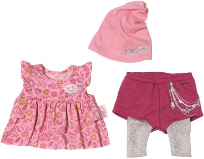 Baby Born Šatičky s čepičkou - Růžová čepička