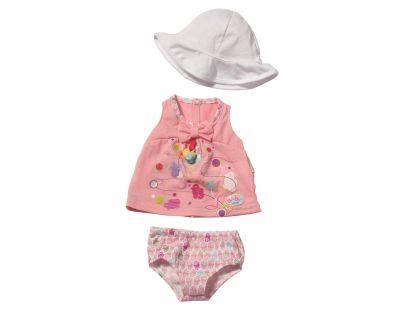 Baby Born Šaty s kloboukem - Růžové tričko