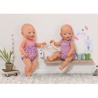 Baby Born Spodní prádlo na ramínku - Růžovo-fialová 3