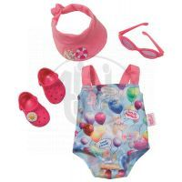 Souprava na opalování (plavky, brýle, kšilt, crocsky) pro BABY born® 820759