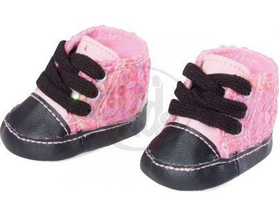 Baby Born Zimní botičky 816806 - Růžové s flitry