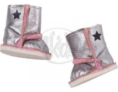 Baby Born Zimní botičky 816806 - Stříbrné