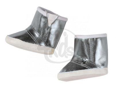 Baby Born Zimní boty - Stříbrná