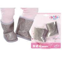 Baby Born Zimní sedmimílové boty Stříbrné