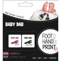 Baby Dab Barva na dětské otisky 2 ks fialová šedá
