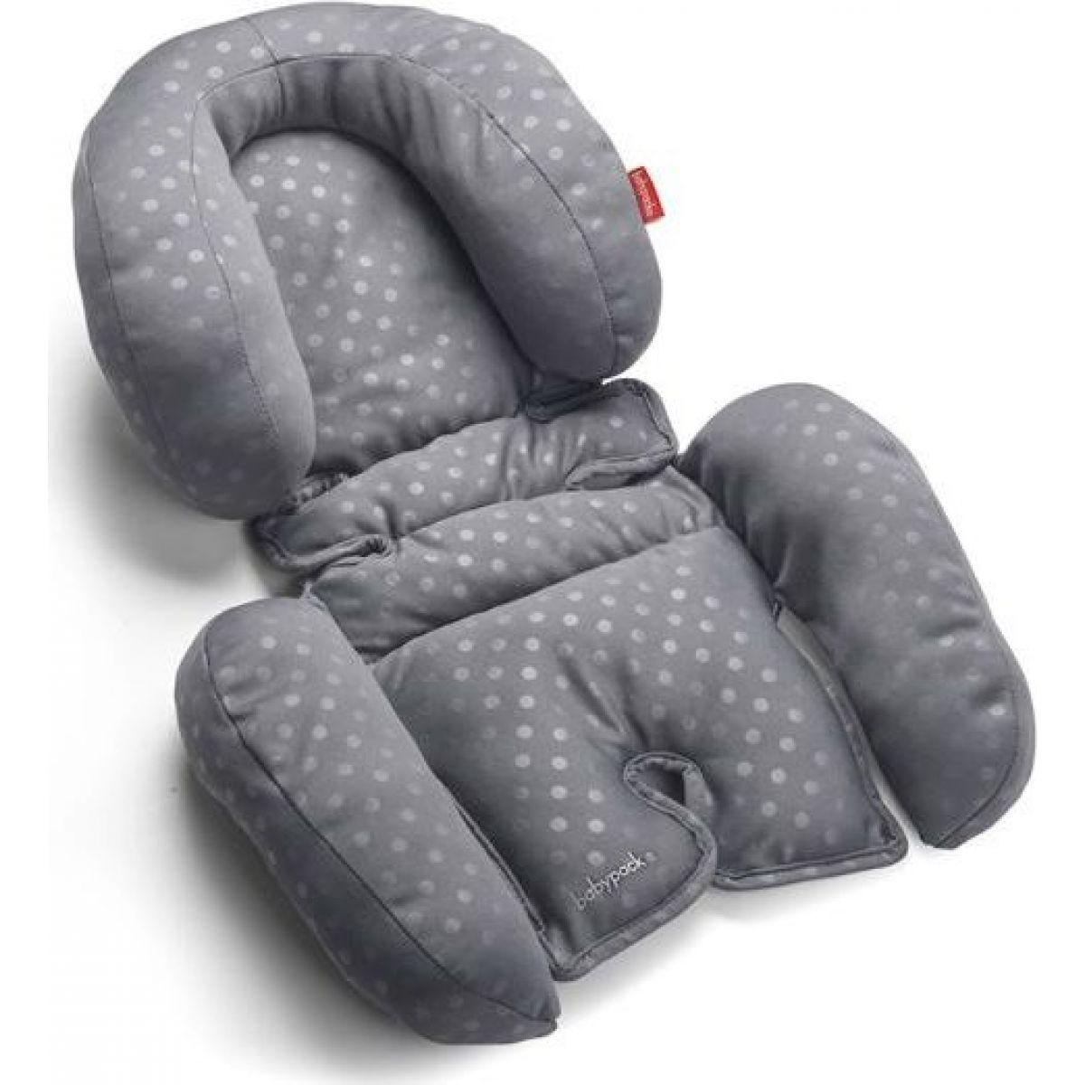 Babypack Polstrování do autosedačky nebo kočárku pro nejmenší šedé