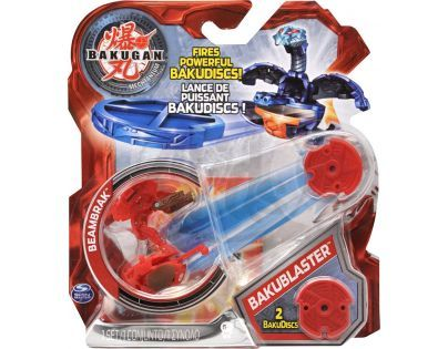 BAKUGAN 4 Bakustříleč disků BAKUBLASTER - Beambrak červený