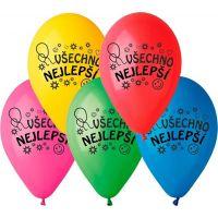 Balonky nafukovací Všechno nejlepší 10 ks