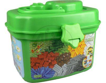 Banbao 8485 Základní kostky 660 dílků v plastovém boxu - Zelená